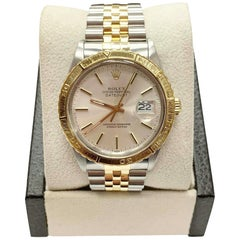 Rolex Datejust Thunderbird 16253 18K Yellow Gold & Stainless Steel Box & Papers