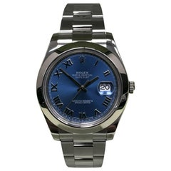 Rolex Datejust II 116300 Blue Dial Stainless Steel Box and Papers
