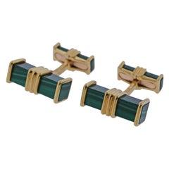 Chaumet Malachite Gold Cufflinks
