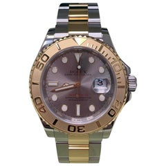 Rolex Yacht Master 16623 Silver 18 Karat Gold and Stainless Steel Box Paper 2011