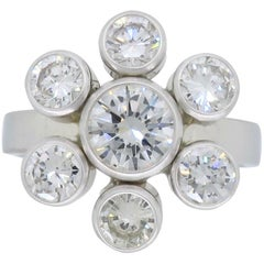 Matte Finish 2.22 Carat Diamond Fashion Ring