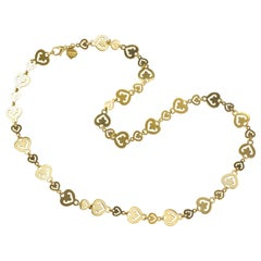 O. J. Perrin Gold Heart Link Necklace