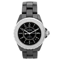 Chanel Ceramic Diamond J12 Automatic Wristwatch Ref H0969