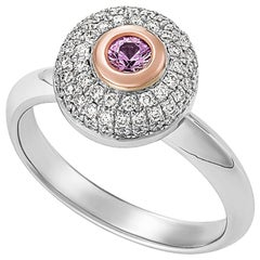 Giulians 18K Rose and White Gold Pink Sapphire and Diamond Ring