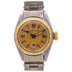 Lady Rolex Oyster 14 Karat Yellow Gold and Stainless Steel Manual Wind