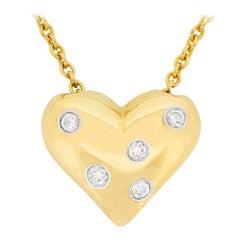 Tiffany & Co. Etoile Heart Diamond Pendant with Chain