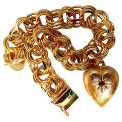 Charm Bracelet Heart 14 Karat