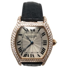 Cartier Tortue Collection De Privee Rose Gold Watch With Diamonds