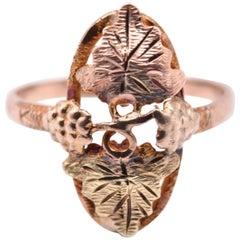10 Karat Tri-Tone Black Hills Gold Ring