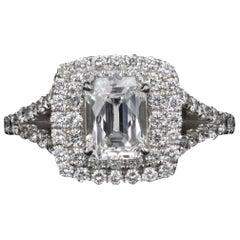 White Gold .97 Carat Radiant Cut Diamond Engagement Ring