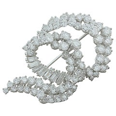 Cartier Diamond Platinum Brooch