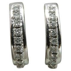 .60 Carat Diamonds Semi Hoop Earrings 14 Karat