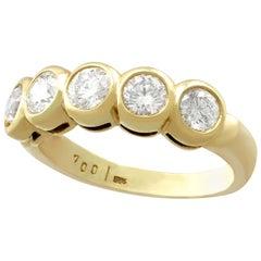 1.25 Carat Diamond Five-Stone Yellow Gold Ring