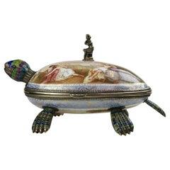 Fine Viennese Silver Gilt and Enamel Tortoise Turtle Box, by Hermann Bohm