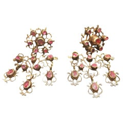 18th Century and Earlier Chandelier Earrings