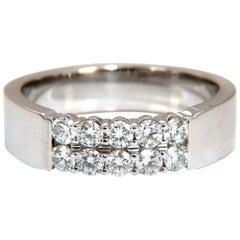 .60 Carat Natural Round Diamonds Double Row Common Prong Band 14 Karat