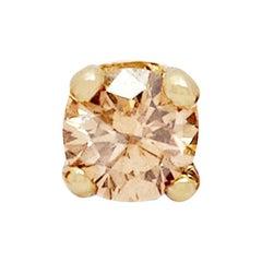 Champagne Diamond Stud Earring 'Single' by Allison Bryan
