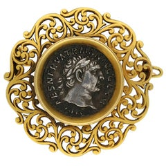 Archeological Revival Roman Coin Brooch by Wiese, circa 1890