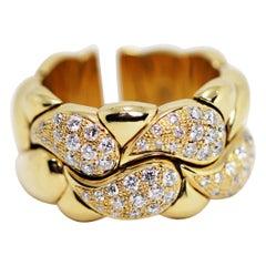 Diamond Set Chopard Casmir 18 Carat Gold Dress Ring