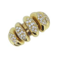 Bulgari 18 Carat Yellow Gold and Diamond Celtaura Ring