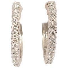Sonia B Diamond Oval Hoop Earrings