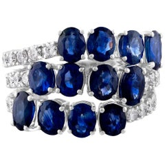 Ruchi New York Sapphire and Diamond Pliant Ring