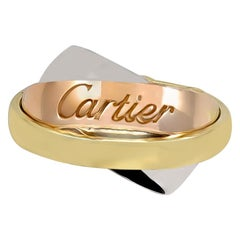 Unusual Cartier Gold Trinity Ring