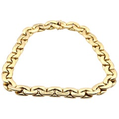 18 Karat Yellow Gold Oval Link Chain Necklace
