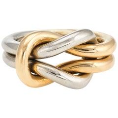 Vintage Cartier Hercules Love Knot Ring 18 Karat Gold Paris Estate Jewelry
