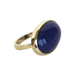 Marina J Lapis Lazuli and 14 K Yellow Gold  Ring