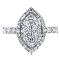 18 Karat White Gold 1.47 Carat Diamond Ring