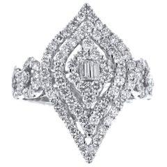18 Karat White Gold 1.86 Carat Diamond Ring
