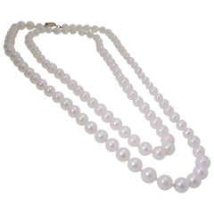 Double Strand of Fine Cultured Akoya Pearls