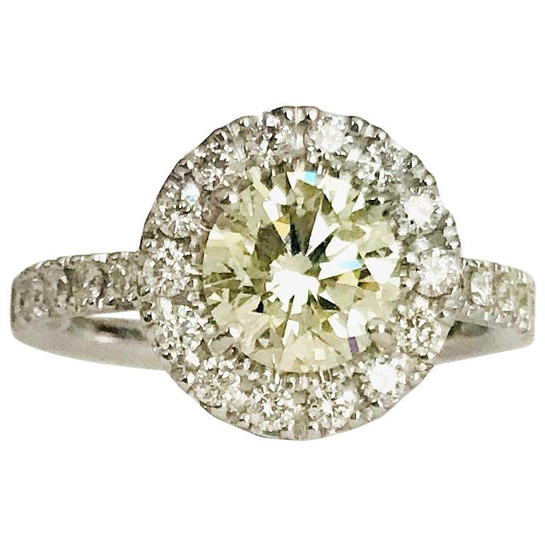 Diamond Diamond Beautiful Engagement Rings 0.21 Ct H Vs1 14k White Gold Certified