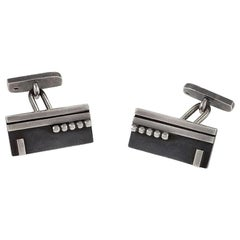 Art Deco Silver Cuff Links by Jean Despres
