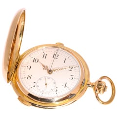 Stunning Victorian Ancre Gold Pocket Watch with Sonnerie Quarter Repeater