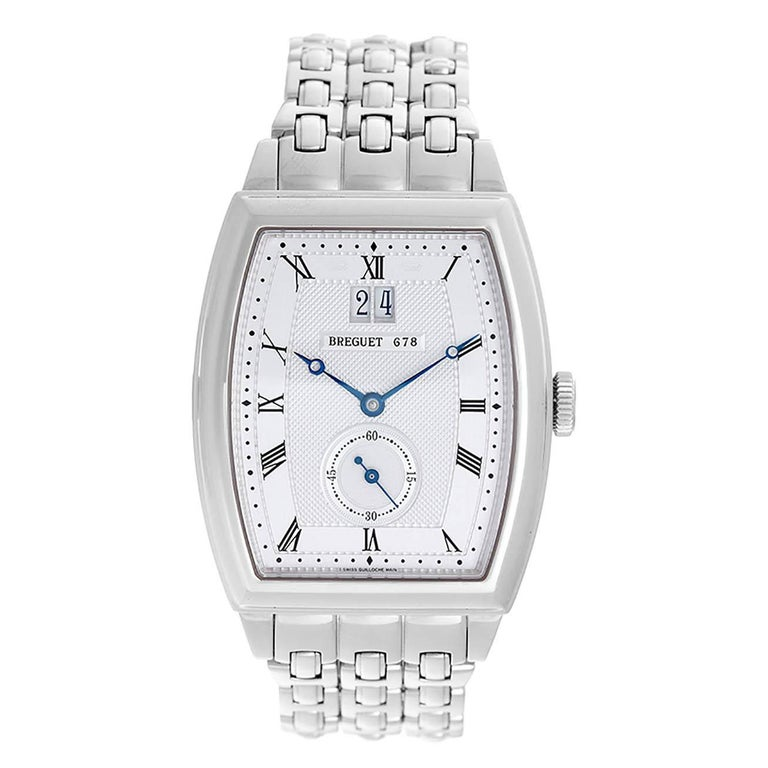Breguet White Gold Heritage Automatic Wristwatch Ref 5480BB12BB0 For Sale