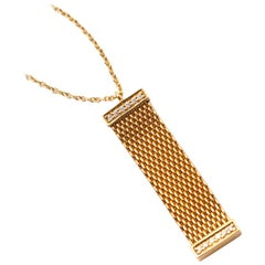 Tiffany & Co. Somerset Gold Mesh and Diamond Pendant