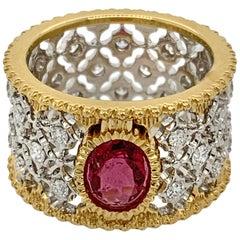18 Karat Yellow and White Gold Tourmaline Ring