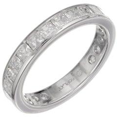 Peter Suchy 5.50 Carat Asscher Diamond Platinum Eternity Wedding Band