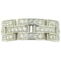 Cartier Maillon Panthère Diamond Ring 18 Karat White Gold