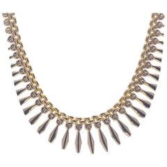 Fancy Yellow Gold 14 Karat Necklace 16.70 Grams