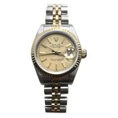 Rolex Datejust 69173 18 Karat Gold und Edelstahl Box und Papiere, für Damen