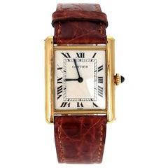 "Cartier Paris ""Louis Cartier"" Tank Watch in Yellow Gold, Mechanical"
