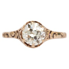 1.20 Carat Diamond Yellow Gold Engagement Ring