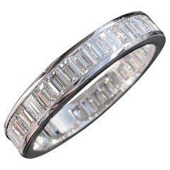 2.50 Carat Approximate Baguette Diamond Eternity Ring / Wedding Band, Ben Dannie