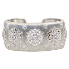 Buccellati White Gold Wide Diamond Bracelet 18 Karat