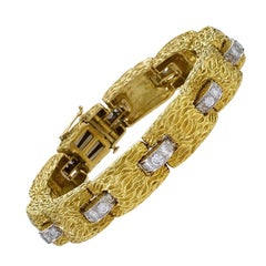 Gold Bracelet with Diamond by David Webb