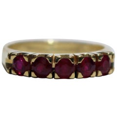 Ruby and Yellow Gold Band Ring