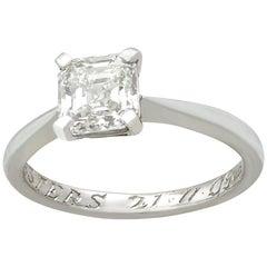Contemporary 1.20 Carat Diamond Platinum Ring by 'De Beers'